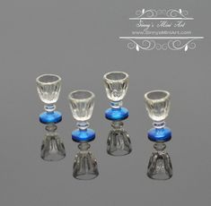 4 pcs 1//12 Doll house Miniature kitchen tableware plastic beer mug glass cup Fad