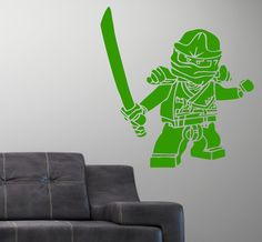 Ninjago Lego Vinly Wall Decal Sticker Lloyd by SIMPLEVINYL on Etsy, $29.99