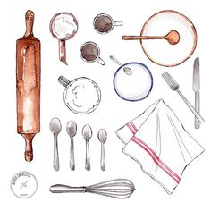 Good objects - Cooking plans for tomorrow #goodobjects #watercolor #illustration
