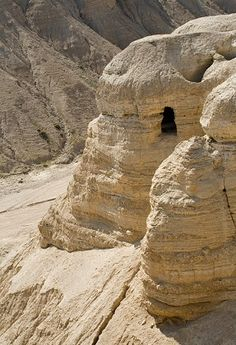 Israel,  Qumran where the Dead Sea scrolls were found.