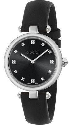08fa1b23559 Gucci Diamantissima Black Dial Women Watch.  GucciWatch  WomenWatch   WatchesForWomen  WatchesGiftIdeas  . Reloj GucciJoyería De Acero ...