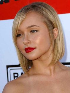 Short Straight Hairstyles for Chubby Round Faces