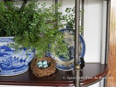 Lynne's Gifts From the Heart: ~ Blue and White on the Baker's Rack ~