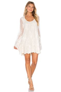 Show Me Your Mumu Fannie Flow Dress in Lila Lace Pear in Lila Lace Pearl   REVOLVE