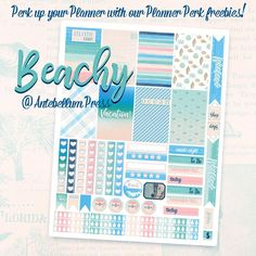 Free Printable Beachy Planner Stickers from Antebellum Press