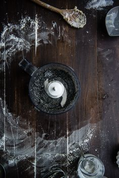 homemade black sesame paste