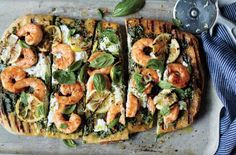 Healthy Grilling Recipes: Shrimp and Pesto Pizza COOKOUT,GRILL,GRILLING,ICE CREAM,KEBABS,PIZZA,SALAD,STEAK,SUMMER RECIPES