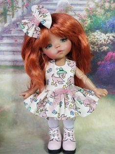 Ball Jointed Dolls, Teddy Bears, Bjd, Doll Clothes, Harajuku, Flower Girl Dresses, Spaces, Wedding Dresses, Sweet