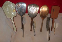 Collectable Antique Vintage Hand Held Mirrors and Brushes to Be Sold in A Lot   eBay