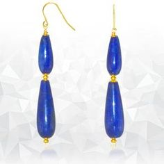 Regenz Gold Drop Afghan Lapis lazuli Earrings Brand New Lapis Lazuli Earrings, Stone Jewelry, Drop Earrings, Jewels, Sterling Silver, Antiques, Gold, Auction, Store
