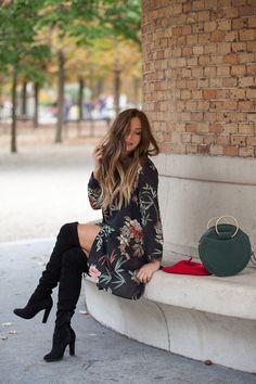 a6ce2ef5d17  otk  flowerdress  cuissardes  redbag  fashion  fall  automne