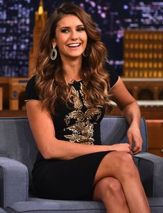 Nina Dobrev looks gorgeous on The Tonight Show with Jimmy Fallon.