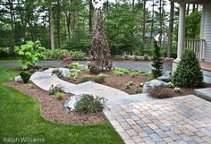 Granite steps and paver walk