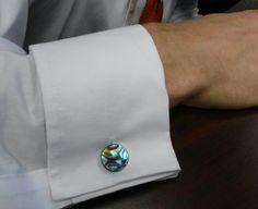 Abalone cufflinks by Sherrissima Designs