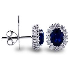 Sapphire and Diamond Earrings  3,000.00 USD ... I wonder if I could find some FABULOUS knockoffs??
