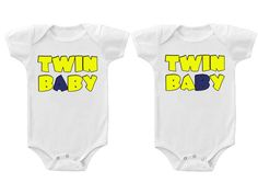 Twins Baby Boys Girls Funny Bodysuits Creeper Twin Baby A & B #nordstrom #twins #twinbaby #babyclothes