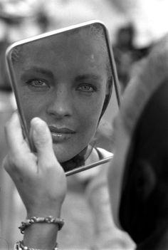 "On set of ""La Piscine"" directed by Jacques Deray Romy Schneider, portrait  ** NB 9805 **"