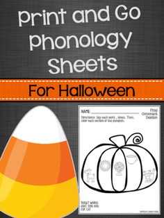 Print and Go Phonology Sheets for Halloween Articulation Activities, Speech Therapy Activities, Family Game Night, Family Games, Final Consonant Deletion, Phonological Processes, Play Therapy Techniques, Speech Room, Primary Music