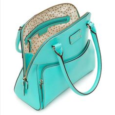 kate spade belize blue turquoise purse