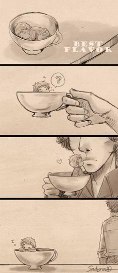 John Sherlock 'My cup of tea' mini comic Sherlock Holmes 3, Sherlock Fandom, Sherlock John, Jim Moriarty, Sherlock Quotes, Benedict And Martin, John Martin, Johnlock, Hobbit