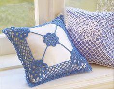 Relasé: Cuscino decorato all'uncinetto - schema