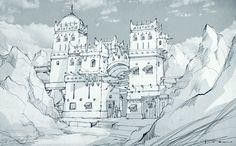 ArtStation - Concept sketch- Gate , Il su Ko