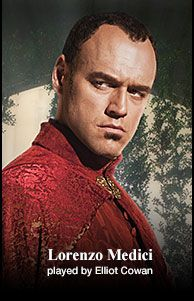 Lorenzo Medici  played by Elliot Cowan