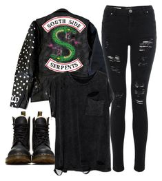 """""""[ Southside Serpent ]"""" by demiwitch-of-mischief ❤ liked on Polyvore featuring Dr. Martens"""