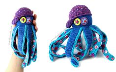 вязаный осьминог мастер-класс, осьминог крючком описание вязания, вязаная игрушка осьминог