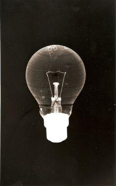 photogramblog:    Light bulb  classic & contemporary photograms/rayograms