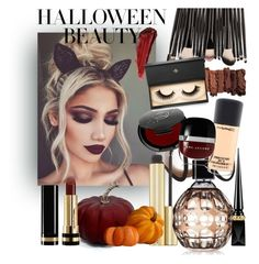 """""""#Halloween beauty"""" by lenaaa12 ❤ liked on Polyvore featuring beauty, Burberry, Jimmy Choo, Christian Louboutin, Gucci, MAC Cosmetics, By Terry, Rituel de Fille, Urban Decay and Lash Star Beauty"""