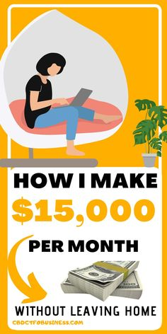 How I make $15,000 per month - If you are looking for a better way to make money, fire your boss or spend more time with your family, you are definitely not alone. Everybody is looking to make extra income these days, and many people are turning to work at home opportunities. #workfromhome #earnmoneyonline #earnmoneyfromhome #money