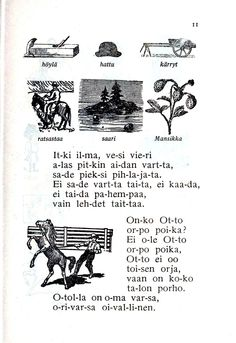 From a Finnish Schoolbook.