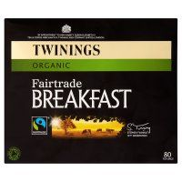 Twinings organic Fairtrade breakfast 80 tea bags