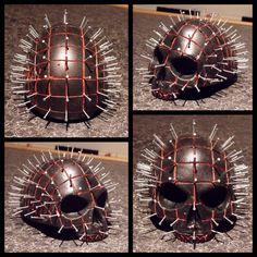PIN HEAD SKULL Skull Artwork, Dark Art, Skulls, Bones, Hand Carved, Artworks, Clock, Carving, Sculpture