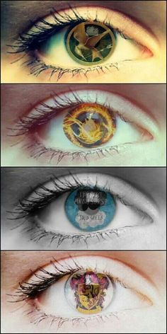 Hunger Games~Divergent~The Fault in Our Stars~Harry Potter eyes