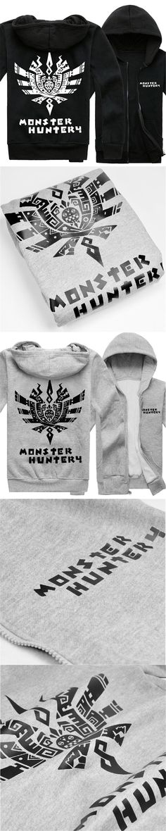 Anime Monster Hunter Cosplay Costumes Cardigan Jacket Coat Spring Autumn Fleece Hoodies Long Sleeve Sweatershirts Tops