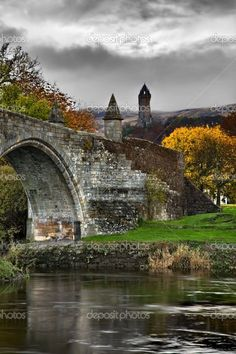 Stirling Bridge in Stirling, Scotland. From Stirling Castle you can see across the huge valley and see the Wallace Monument, fantastic.................