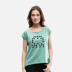 RandomBlackDot87 Frauen T-Shirt mit gerollten Ärmeln Geek Stuff, Random, Women's T Shirts, Geek Things, Casual