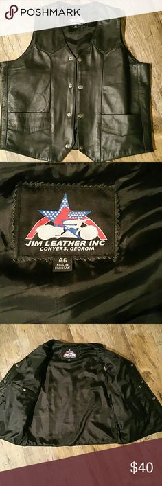 Motorcycle vest, like new size 46 Leather biker's vest Jims Leather INC Jackets & Coats Vests