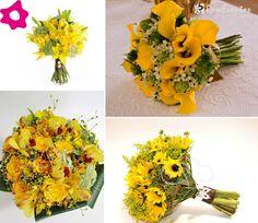 Bouquet de noiva amarelo
