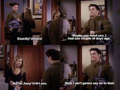 """When Joey got a man bag:   31 """"Friends"""" Jokes That Never Get Old"""