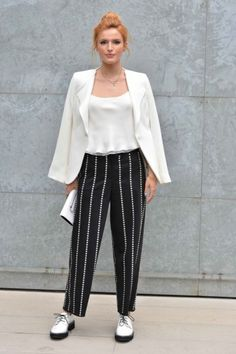 Bella Thorne in Italy. #poshpoint #bellathorne #streetstyle #mfw #armani #ss15 #fashion #milan #italy