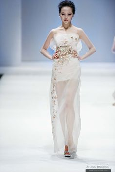 Chinese style Glassbeads Embroidery dress - from Zhang jingjing 2013 spring summer haute couture (china fashion week)
