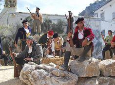 Los bandoleros regresan a la Sierra de Grazalema (Cadiz), muy cerca de Malaga, Spain