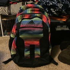 Super cute adidas colorful backpack Only used for a couple of days super cute bag perfect condition. It has 4 different pockets along with a laptop sleeve Adidas Bags Backpacks