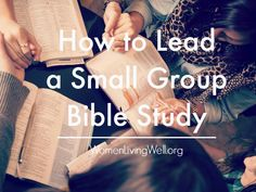 Are you a part of a small group Bible Study? What resources are you using? Come visit and share your experiences! This post Includes things I've learned along the way, how to manage prayer time within the group and how I plan my notes to lead a study.