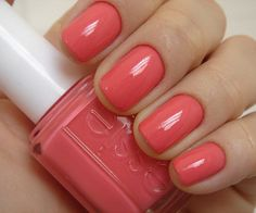 Essie: Cute as a button. Watching Mad Men reruns, I was making a mental note to find myself some nail polish that matched Betty Draper's. Here it is!