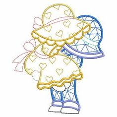 Vintage Lovers Sunbonnets 08(Lg) machine embroidery designs