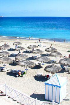 Los Cristianos Beach, Tenerife. Masons first holiday! 2013